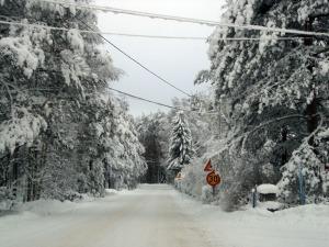 Niinisalon keskusta Kievarinkadulla talvella 2010. Kuva: Kirsi Jaakkola.