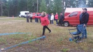 Laavuilta 18.8.2016. Saapas lensi Niinisalon kolmansissa kylän saappaanheiton mestaruuskisoissa.