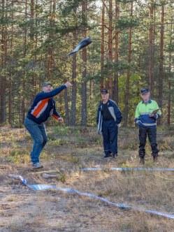 Saappaanheittoa 2019. Kuva: Irja Rajamäki